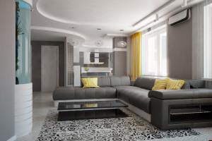 благородный серый в гостиной