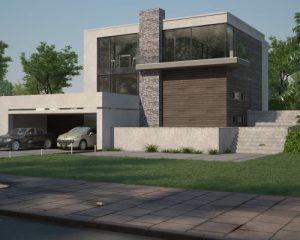 3д визуализация жилого дома