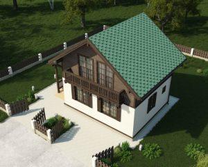 визуализация дома сверху