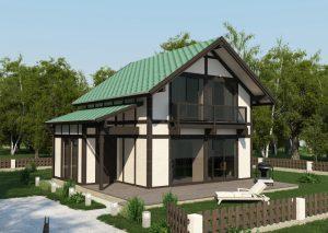 архитектурная визуализация коттеджа в Витебске