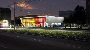 ночная визуализация торгового центра