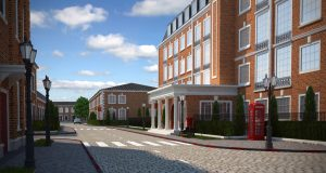 архитектурная 3д визуализация жилого квартала