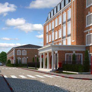 рхитектурная 3д визуализация жилого квартала