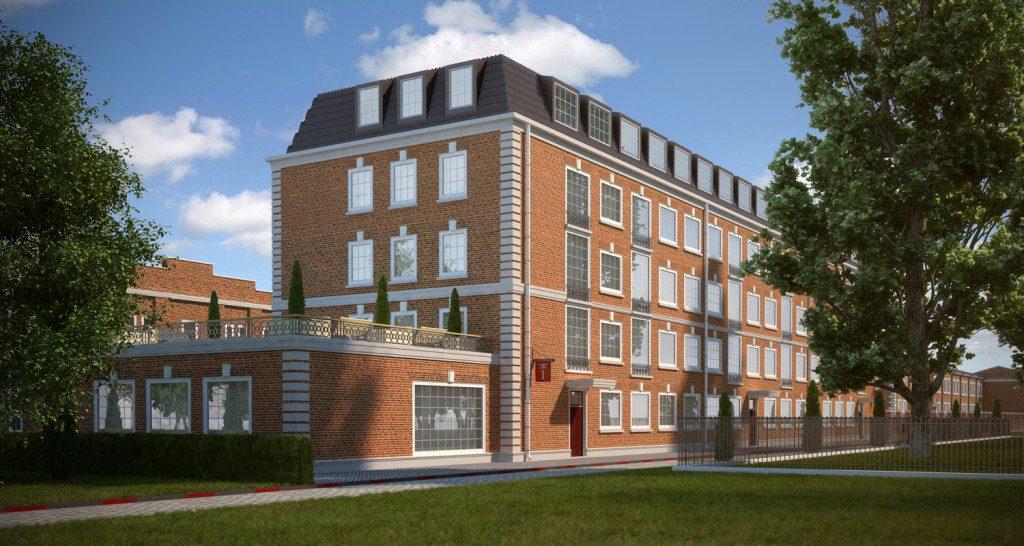 архитектурная визуализация жилого квартала