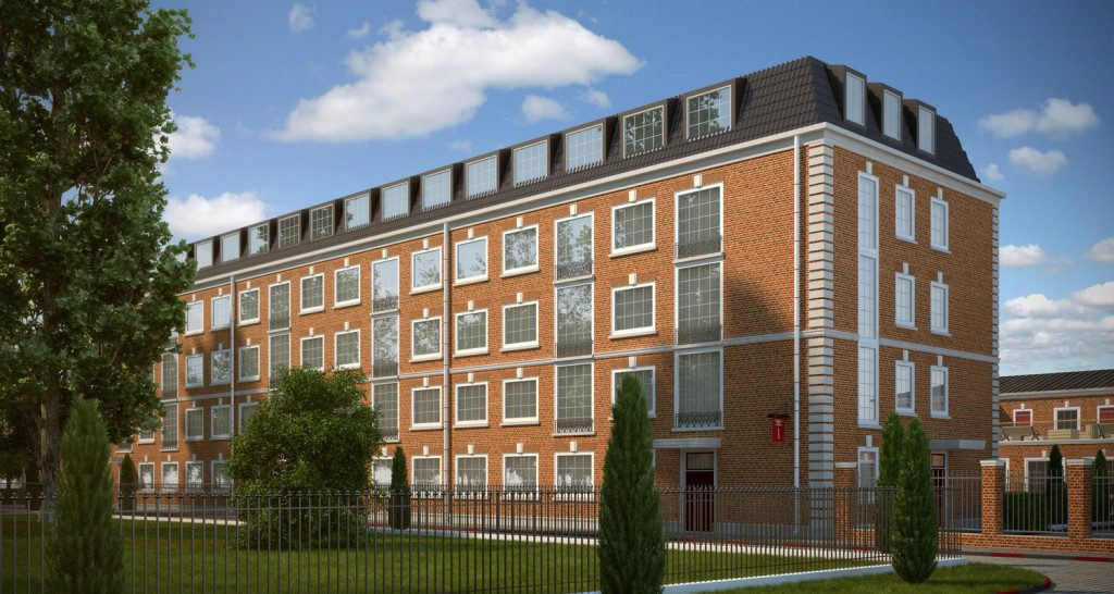 3d визуализация жилого квартала