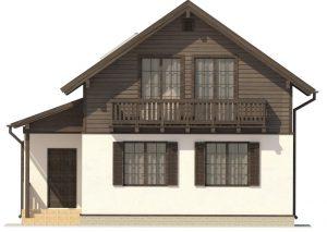 моделирование деревянного дома