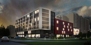 вечерняя визуализация жилого комплекса