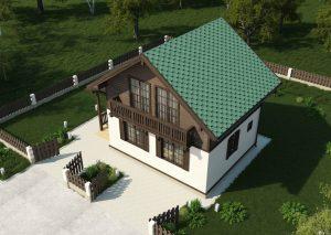 визуализация деревянных домов