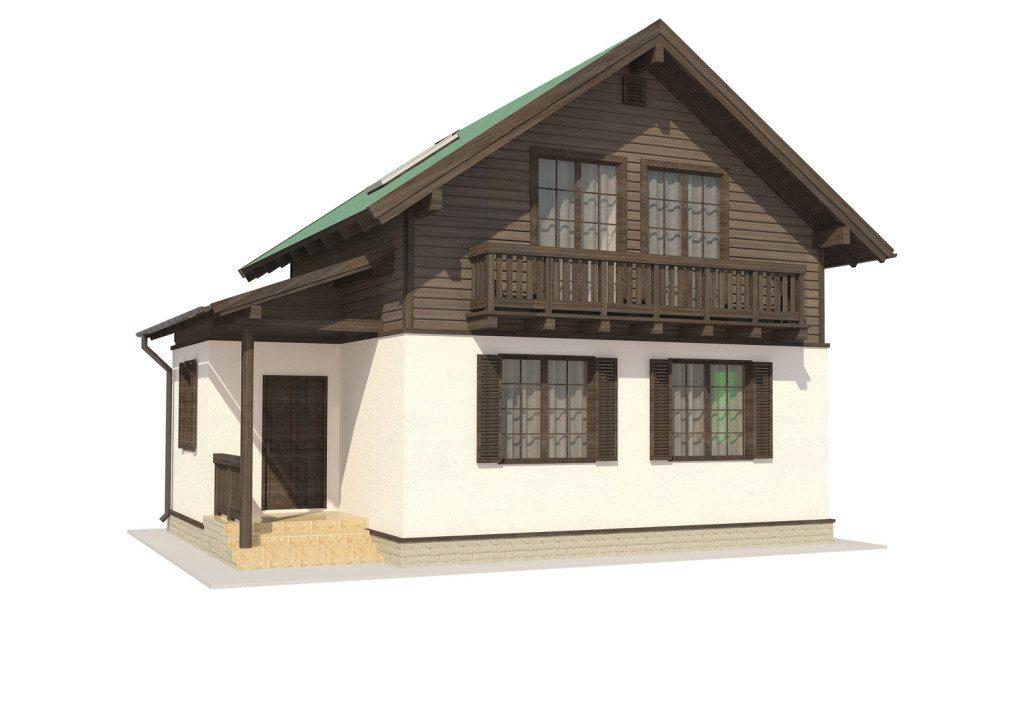 визуализация деревяного дома