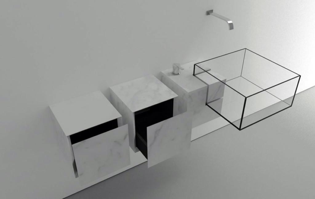 дизайн прозрачной раковины