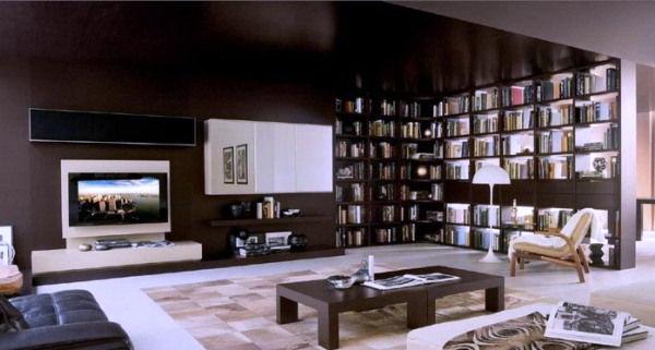 расположение телевизора в гостиной