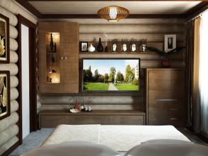деревянный дом спальня