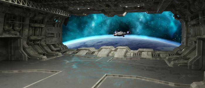 ангар космического корабля