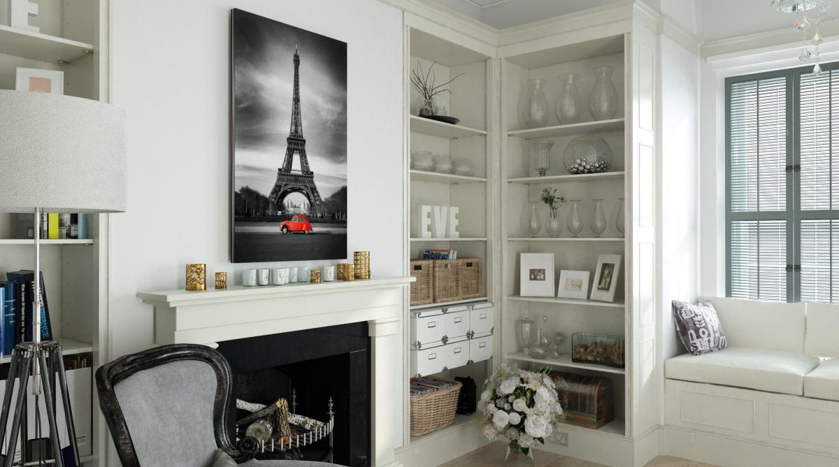 3d визуализация картин в интерьере
