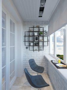 балкон в однокомнатной квартире