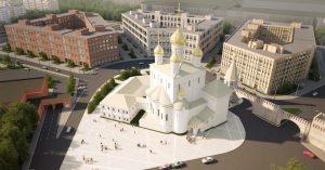 архитектурная визуализация жилого микрорайона в Санкт-Петербурге