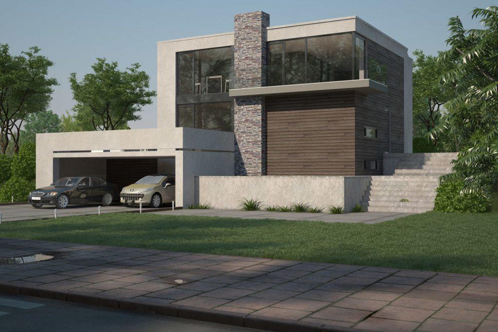 3d визуализация жилого дома