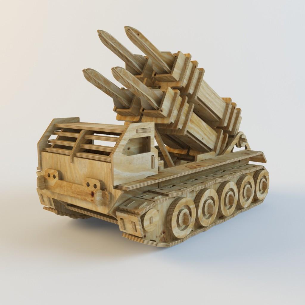 3d визуализация деревянного конструктора