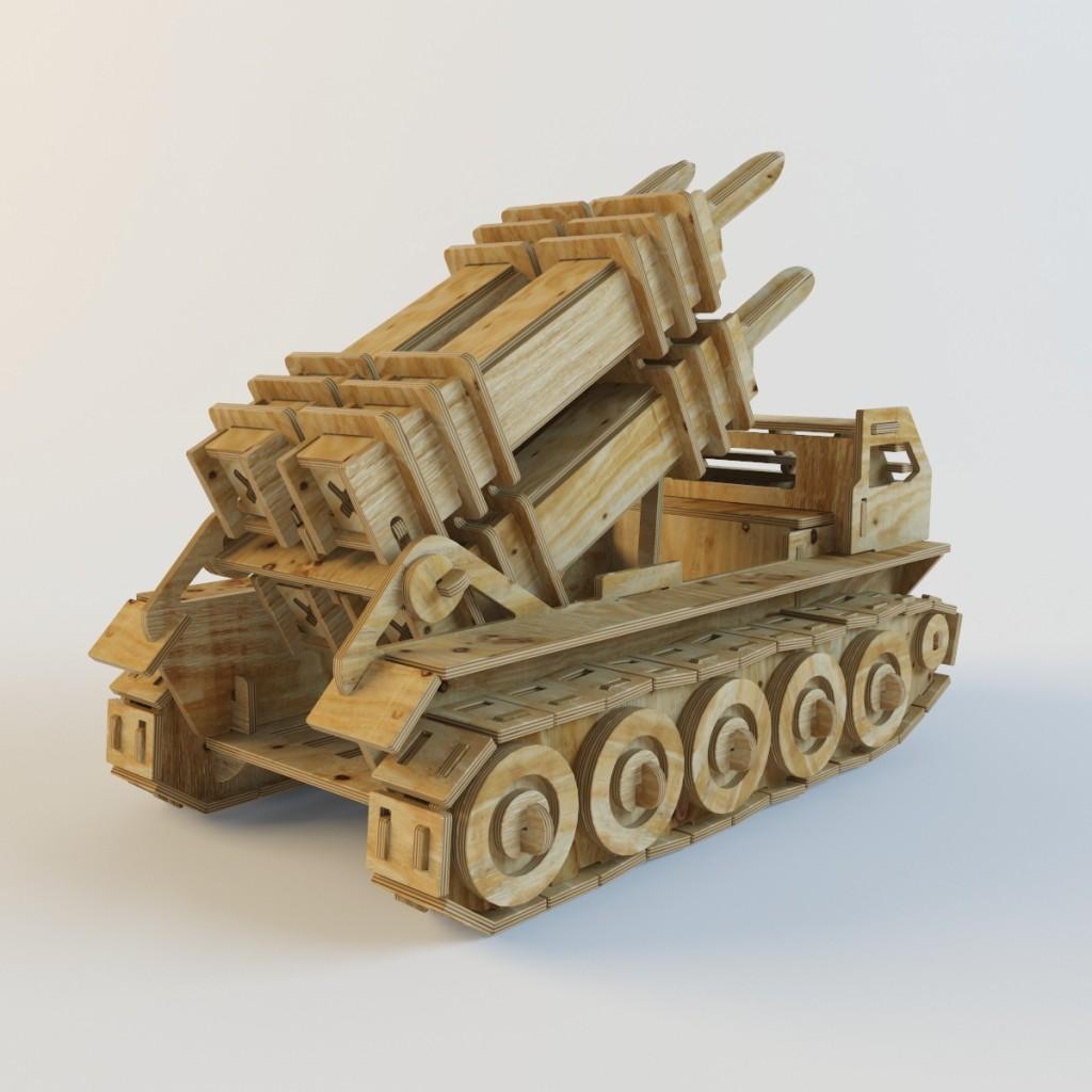 моделирование деревянного конструктора