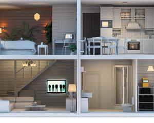 визуализация дома в разрезе