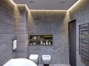 крутой интерьер ванной